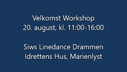 Velkomst Workshop August 2017